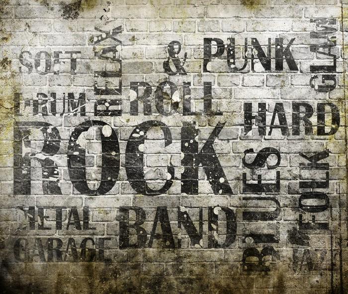 Grunge rock music poster vinyl wall mural rock