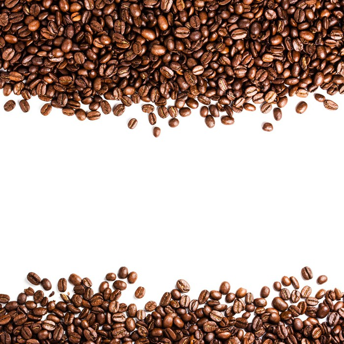 wall paper for living room coffee beans isolated on white background with copyspace 21445