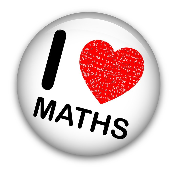 Quot I Love Maths Quot Pin Math Mathematics Equations Tag Badge