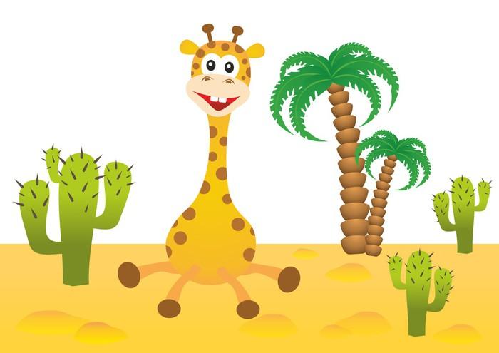 Vinylová Tapeta Legrační žirafa v Africe - Savci