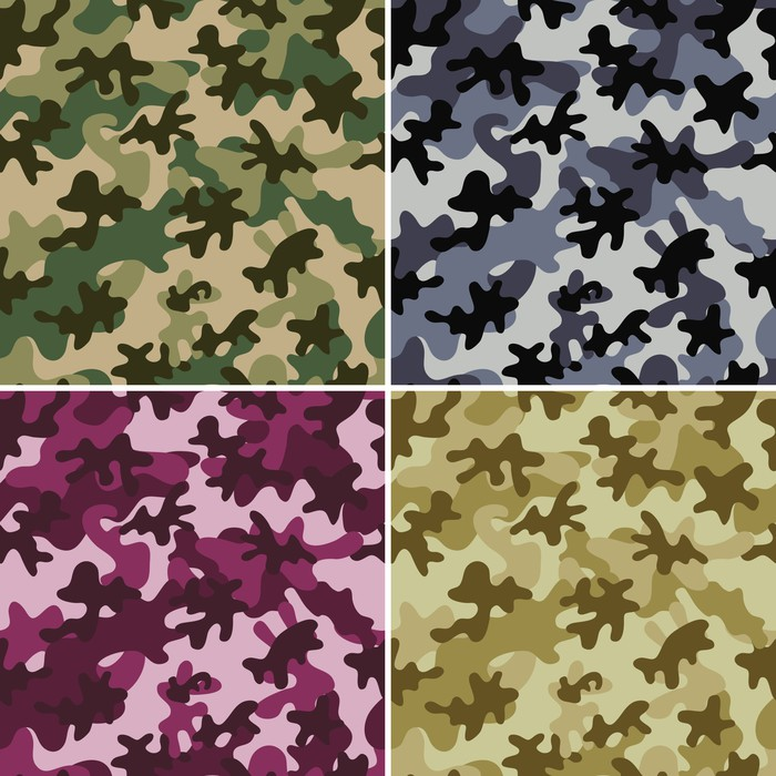 Camouflage seamless patterns wall mural pixers we for Camouflage mural