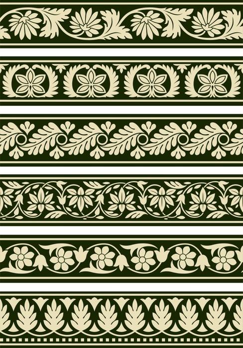 Vinylová Tapeta Indian květinové hranic - Značky a symboly