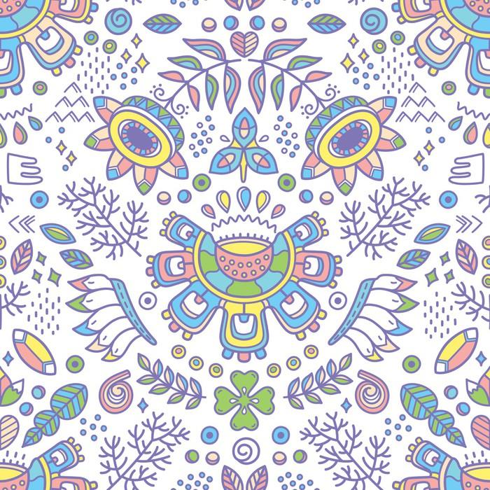 Carta da parati a motivi fiore etnica sfondo decorativo for Carta da parati etnica