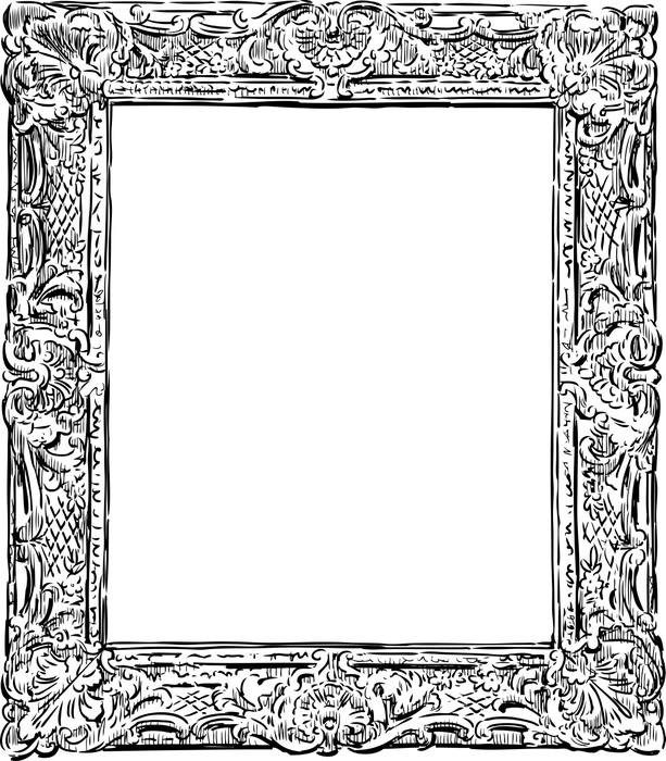 Carta da parati decorative frame vintage pixers for Carte parati decorative
