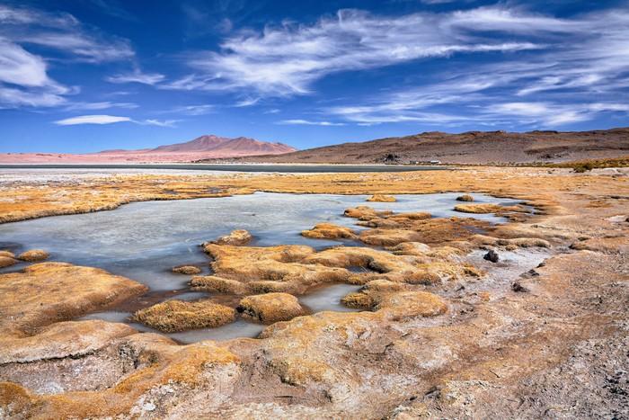 Vinylová Tapeta Solné jezero Salar de Tara, Chile - Voda