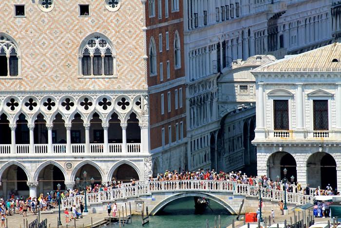 Vinylová Tapeta Staré a slavný most vzdechů poblíž Dóžecí palác v Ven - Evropská města