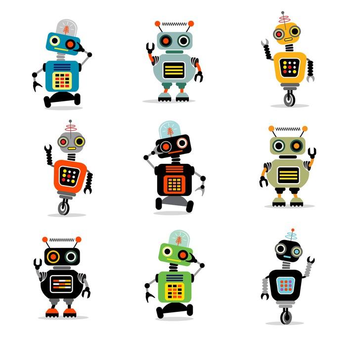 Sticker Pixerstick Petits robots set 3 - Destin