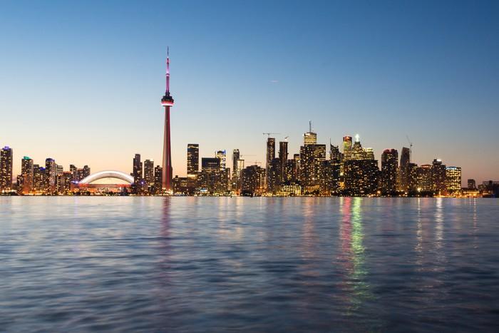 Vinylová Tapeta Toronto panorama - Amerika