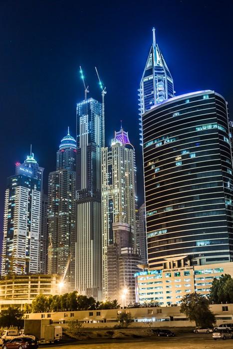 Vinylová Tapeta Dubaj Marina panoráma, Spojené arabské emiráty - Střední Východ