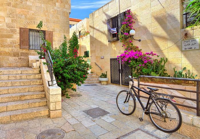 Vinylová Tapeta Ulice a stonrd domy v židovské čtvrti v Jeruzalémě. - Střední Východ