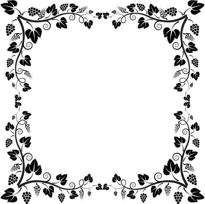 Fototapete Rahmen Rebe • Pixers® - Wir leben, um zu verändern