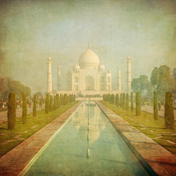 Vintage image of Taj Mahal, Agra, India Wall Mural • Pixers® • We ...