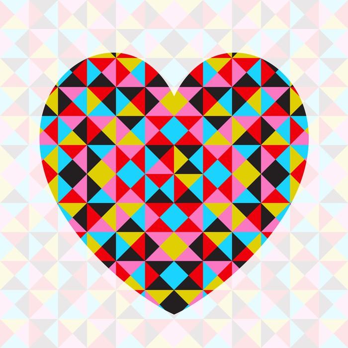 Vinylová Tapeta Vector abstraktní geometrické vzorované srdce - Mezinárodní svátky