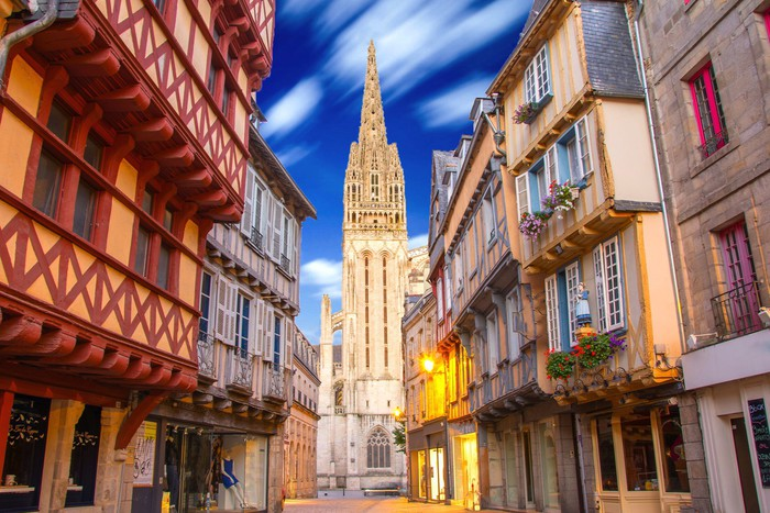 Vinylová fototapeta Quimper en Bretagne, France - Vinylová fototapeta