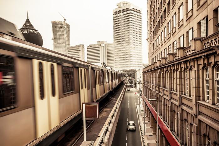Vinylová Tapeta Vlak metra v Kuala Lumpur Malajsie - Železnice