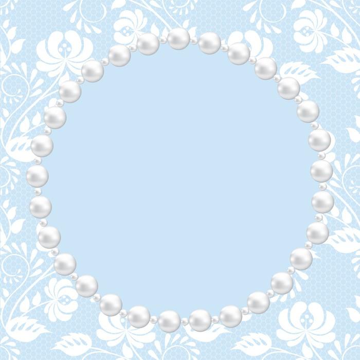 Fotomural Encajes y perlas marco • Pixers® - Vivimos para cambiar
