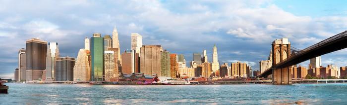 Vinylová Tapeta Manhattan přes řeku - brzy morninig - Město