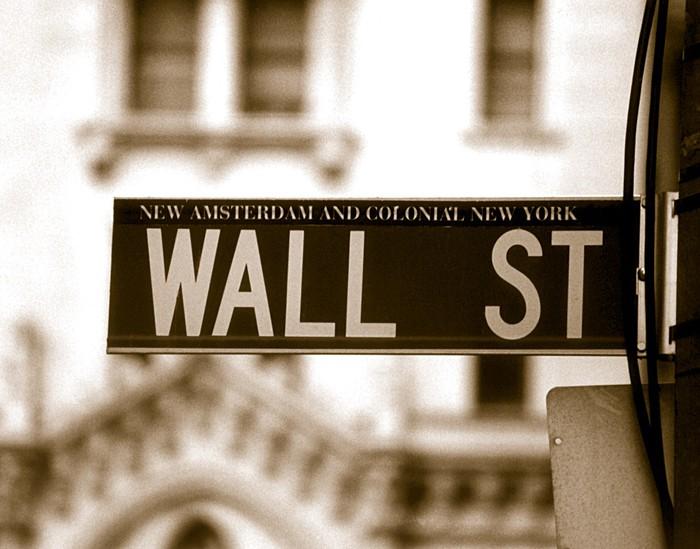 Vinylová Tapeta Wall street - Finance
