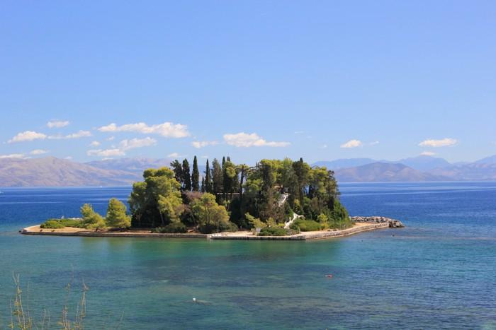 Vinylová Tapeta Island Mouse v blízkosti Korfu Řecko - Evropa