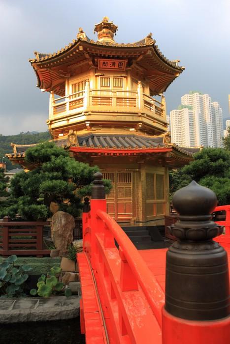 Vinylová Tapeta Arch Bridge a pavilon v Nan Lian Garden, Hong Kong. - Asijská města