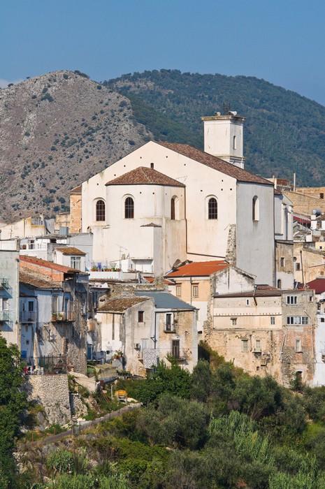 Vinylová Tapeta Panoramatický výhled na Cagnano. Puglia. Itálie. - Prázdniny