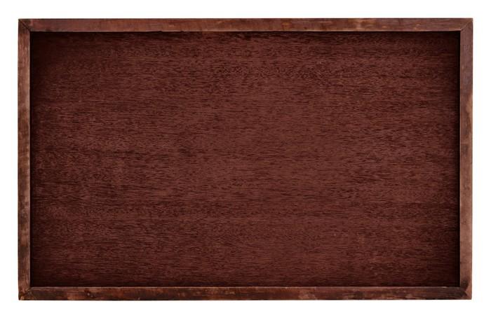 Vinylová Tapeta Dřevo hnědé deska izolovat na bílém pozadí - Pozadí