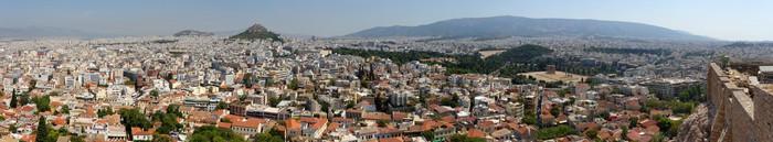 Vinylová Tapeta Vue panoramique d'Athènes depuis Le Rocher de l 'Acropole - Evropská města