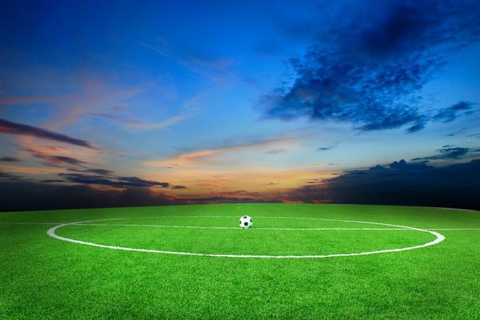Fotomural estadio campo de f tbol del bal n de f tbol for Fondos de futbol