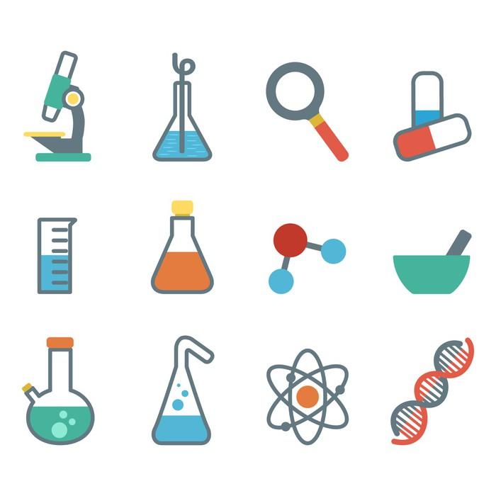 Vinylová Tapeta Byt ikona věda - Aplikované a přírodní vědy