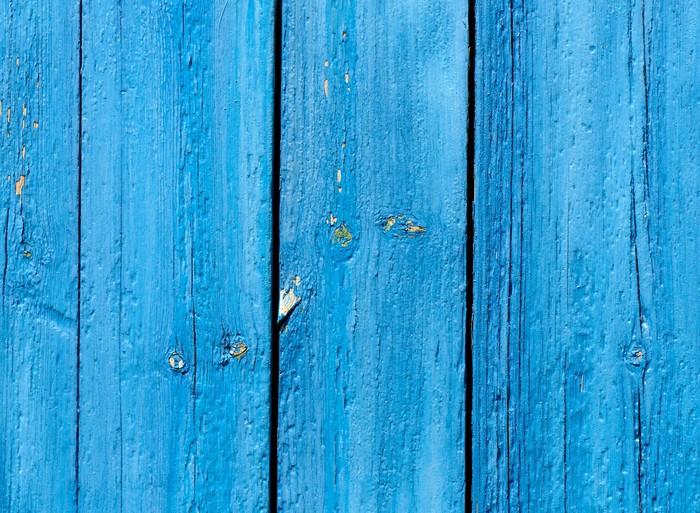 Vinylová Tapeta Blue grunge dřevěné pozadí - Pozadí