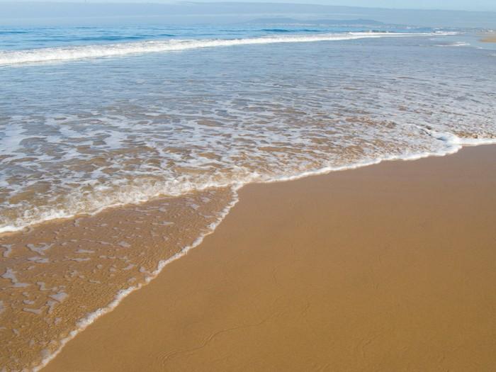 Vinylová Tapeta Krásná pláž v létě s jasnou modrou oblohu. - Voda