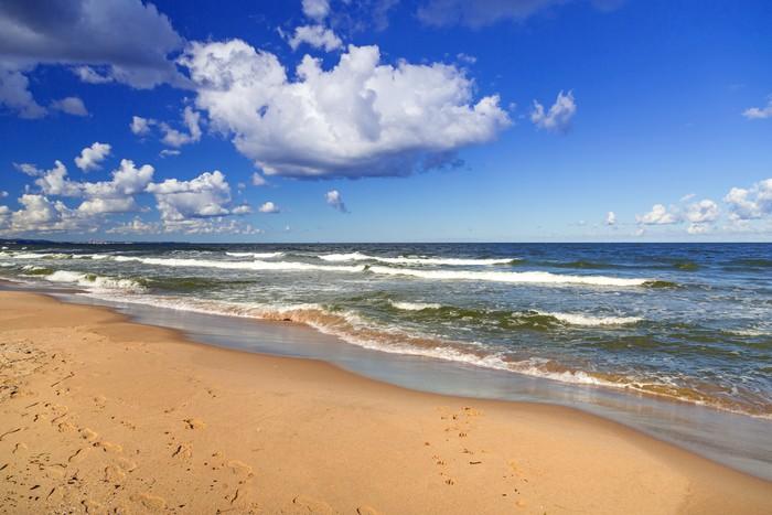 Tableau sur toile plage de la mer baltique en pologne - Tableaux mer et plage ...