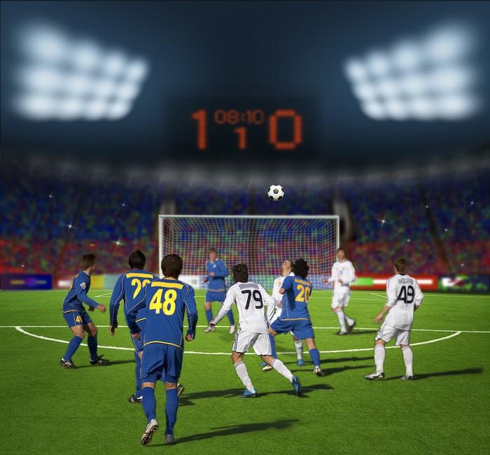 fototapete fu ball stadion vor dem team im. Black Bedroom Furniture Sets. Home Design Ideas