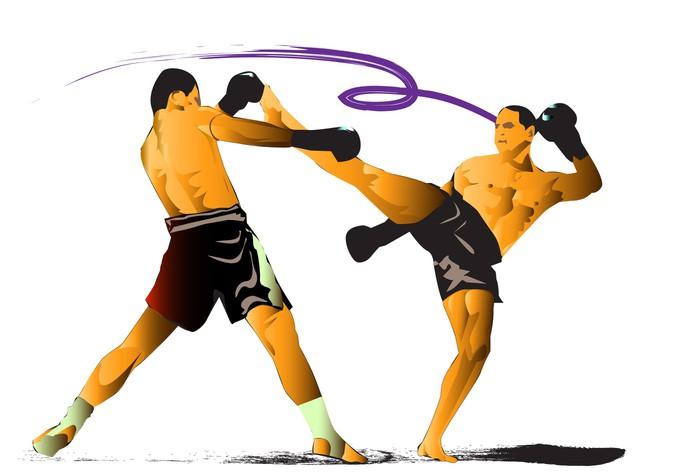 Vinylová Tapeta Thai kickbox - Týmové sporty