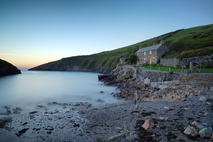 Vinylová Tapeta Port Quin malá rybářská vesnice Cornish - Evropa