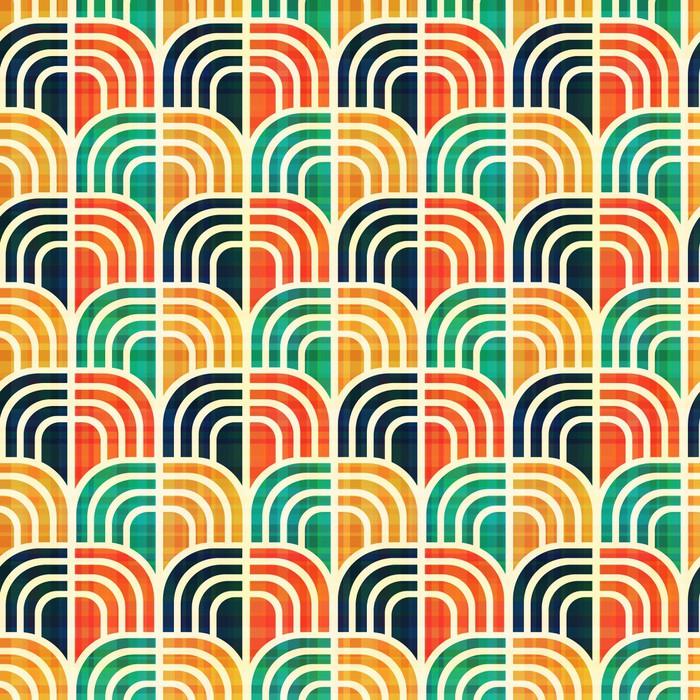 Carta da parati seamless pattern geometrici pixers for Carta da parati vinile