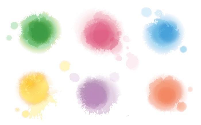 Vinylová Tapeta Sada Akvarel Spots - Umění a tvorba