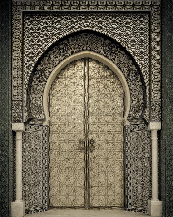 Vinylová Fototapeta Starověké dveře, Maroko - Vinylová Fototapeta