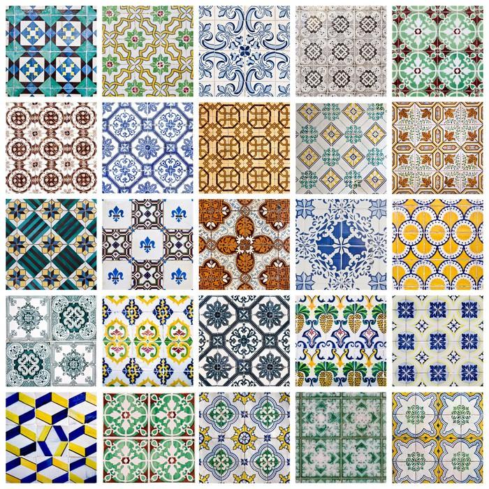 Vinilo pixerstick portugu s azulejos collage pixers vivimos para cambiar - Piastrelle decorative ...