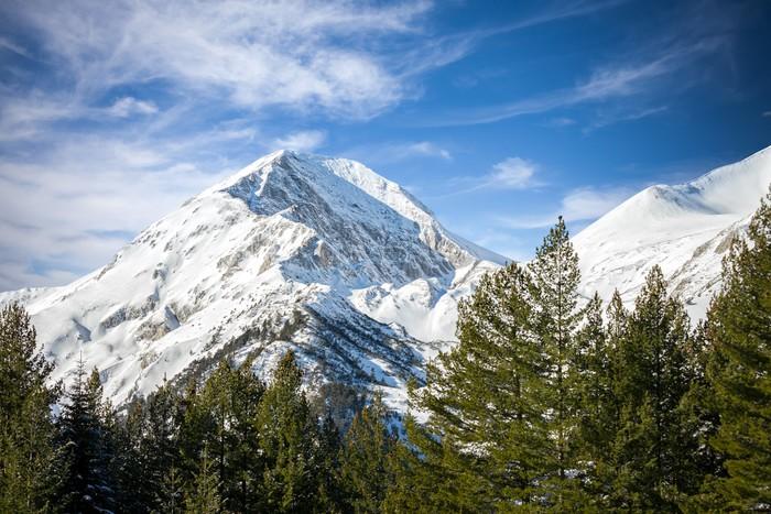 Carta da parati montagna invernale pixers viviamo per for Carta da parati per casa in montagna