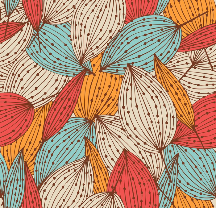 Papier peint motifs automne romantique floral seamless for Papier peint romantique