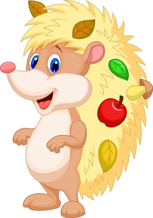 Vinylová Tapeta Roztomilý ježek kreslený - Savci