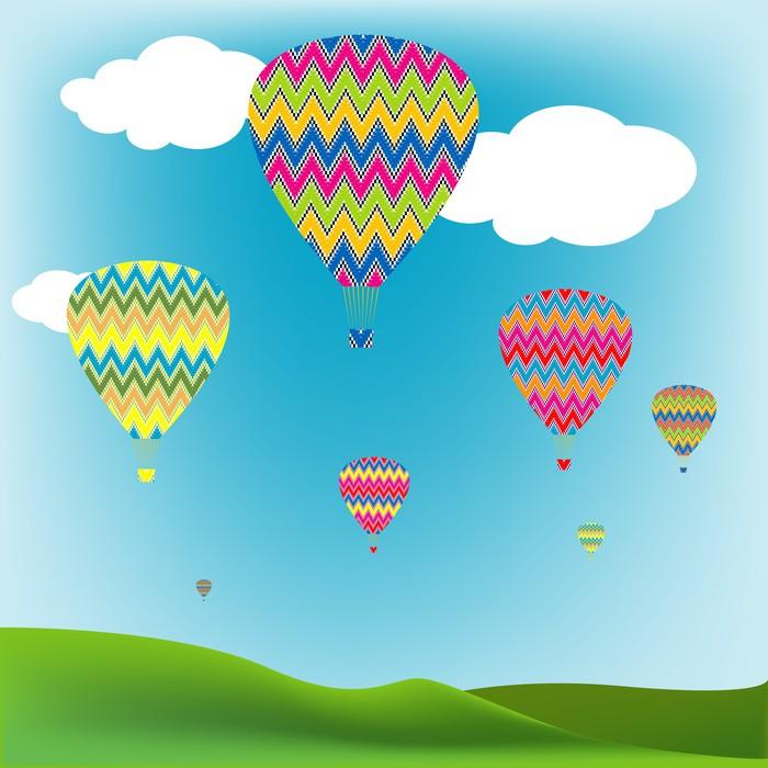 Vinylová Tapeta Hot Air Balloons - Vzduch