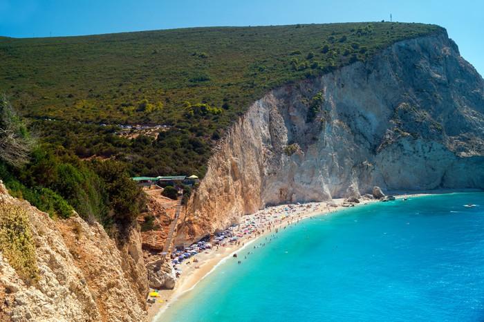 Vinylová Tapeta Porto Katsiki pláž na ostrově Lefkada, Řecko - Evropa