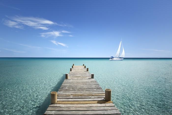 Fotomural puente de madera en mi mar pixers vivimos para cambiar - Fotomurales pixel ...