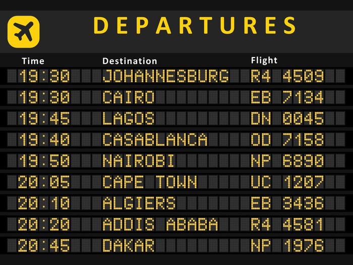 Vinylová Tapeta Afrika letiště - vektorové ilustrace - Značky a symboly
