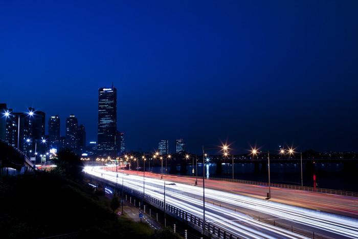 Vinylová Tapeta Soul město v noci - Město