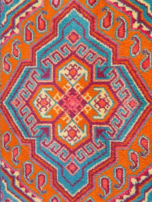 Vinylová Tapeta Ornament ze středoasijské koberce - Domov a zahrada