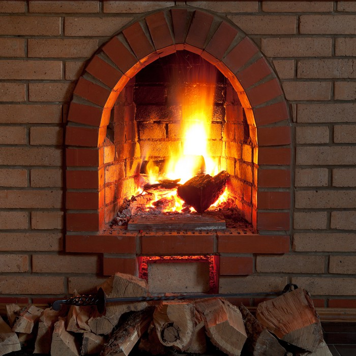 Adesivo fuoco nel camino pixers viviamo per il for Fuoco finto per camino