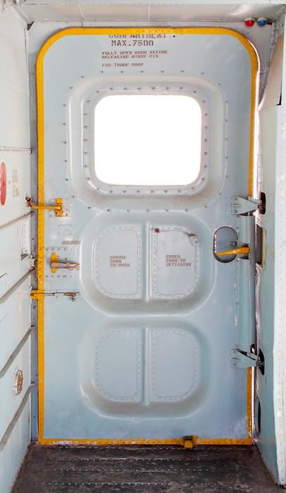 Papier peint porte de l 39 avion militaire l 39 int rieur for Papier peint sur porte interieur